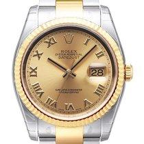 Rolex Datejust 36 mm Edelstahl Gelbgold Ref. 116233 Champagner R
