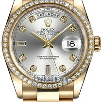 Ρολεξ (Rolex) Day-Date 36mm Yellow Gold Diamond Bezel 118348...