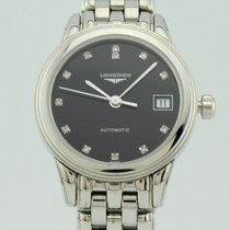 Longines Flagship Diamonds Black Dial Automatic  Steel Lady...