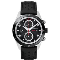 Montblanc TimeWalker Chronograph Automatic black leather strap