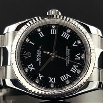 Rolex Oyster Perpetual 36mm No Date 18k Fluted Bezel Factory...