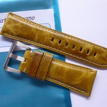 Bodhy Leather strap in 26mm - Mustard in 26/22mm for your Panerai