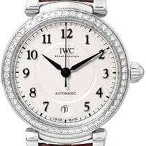 IWC Da Vinci 36 Pink Leather Strap Diamonds Bezel Automatic...