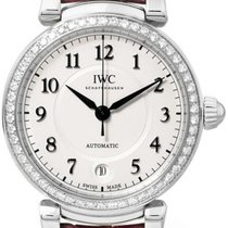 IWC Da Vinci 36 Pink Leather Strap Diamonds Bezel Automatic...