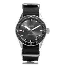 Blancpain Fifty Fathoms Satin Brushed Steel Automatic Mens...