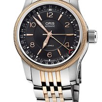 Oris Big Crown Pointer Date, Black Guilloche Dial, Steel