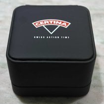 Certina vintage watch box black  leather newoldstock