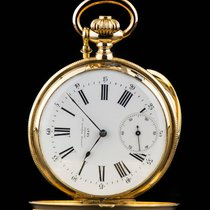 J.Attes Freres Full Hunter Vintage Pocket Watch