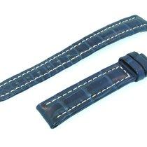 Breitling Band 15mm Croco Blue Azul Strap Ib15-03
