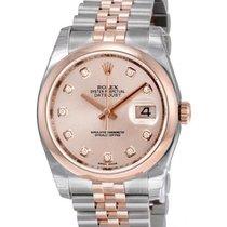 Rolex Datejust Steel Gold Rose Jubilee Diamond - 116201