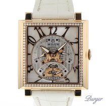 Milus Herios Tri-Retrograde Rose Gold/ Diamonds