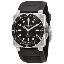 Bell & Ross Men's BR0392-D-BL-ST/SRB Diver Automatic...