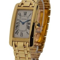 Cartier W26015K2 Tank Americaine - Small Size - Yellow Gold on...