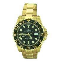 Rolex Gmt Master Ii 116718 40mm 2017 18k Yellow Gold Men's