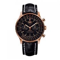 Breitling Navitimer Automatic Rose Gold Black Dial Mens Watch...