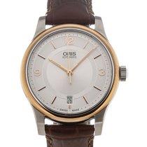 Oris Classic Date 37 Date Silver Dial