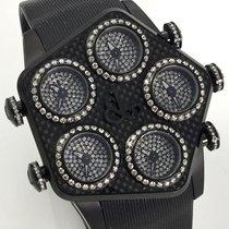 Jacob & Co. Global Carbon Diamonds GMT Pave Dial Brillanten