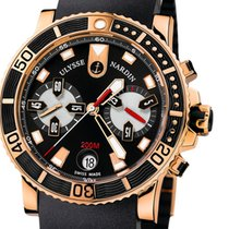 Ulysse Nardin Maxi Marine Diver Chronograph 18K Rose Gold