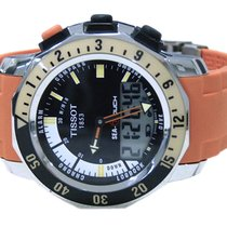 Tissot Sea Touch Orange Strap Mens Watch