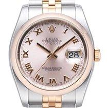 Rolex Datejust 36 mm Edelstahl Roségold 116201 Pink Römisch Jubi