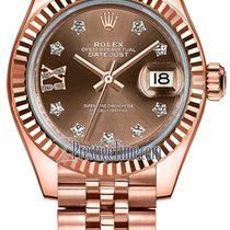 Rolex Lady Datejust 28mm Everose Gold 279175 Chocolate 17...