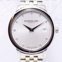 Raymond Weil Toccata Stahl Date Lady Diamond Dial Dresswatch Neu