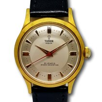 Tudor Aqua Yellow Gold Plated 33mm Vintage Watch