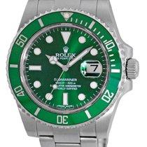 "Rolex Anniversary Ceramic Green Bezel ""Submariner"" Date."