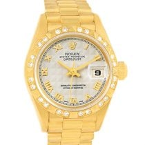 Rolex President Datejust 18k Yellow Gold Diamond Watch 69258