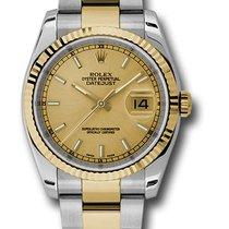 Rolex 116233 Oyster Datejust Stainless Steel & Yellow Gold...