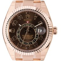 Rolex Sky-Dweller 18K Everose Gold Watch Chocolate Dial 326935
