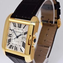 Cartier Tank Anglaise 18k Yellow Gold Automatic Watch Box/Pape...