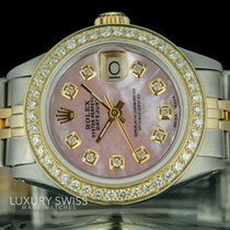 Rolex Lady-Datejust Two-tone  Diamond Dial Diamond Bezel 26mm