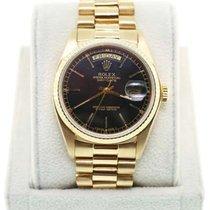 Ρολεξ (Rolex) Day-Date Gold 18038 Single Quickset Black Dial...