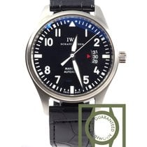 IWC Pilots Mark XVII Black 41mm Crocodile Strap NEW