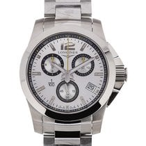 Longines Conquest 1/100TH 41 Quartz Silver Dial