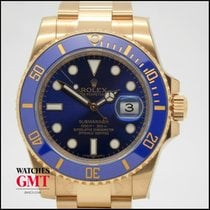 Rolex Submariner Date Ceramic Gold Blue New