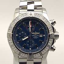 Breitling Super Avenger Blue Dial Chronograph Factory Diamond...