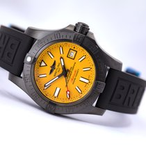 Breitling Avenger II Seawolf Blacksteel Ltd. Edition w Folding...