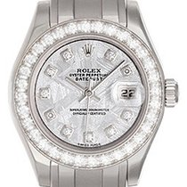 Rolex Ladies Meteorite Diamond Pearlmaster Watch 80299 18k...