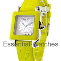 Chopard 27/8896-405 Happy Sport Square in Steel with Yellow...