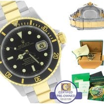 Rolex Submariner 16613 Two-Tone Stainless Black Date Dive 40mm