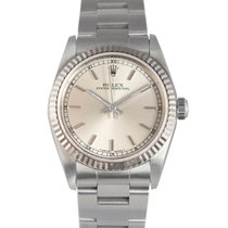 Rolex Oysterdate  Midsize Steel with Silver Dial, Ref: 77014