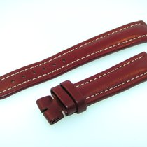 Breitling Band 19mm Kalb Rot Braun Red Brown Calf Strap Für...