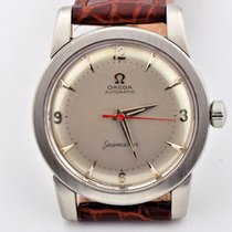Omega Seamaster Bumper Automatic Stainless Steel Red Hand