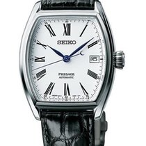 Seiko Presage Automatic Black Leather Strap Men's Watch...