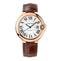 カルティエ (Cartier) Ballon Bleu 36mm Rose Gold on Leather Strap