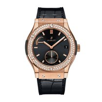 Hublot Classic Fusion 45mm Hand Wind 18K King Gold Mens Watch...