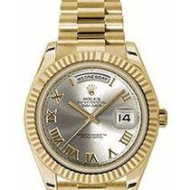 Rolex Unworn 218238-SLVRFP Day-Date II President 41 in Yellow...