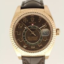 Rolex Sky-Dweller chocolate from 2014 complete with box and...